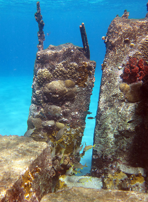 The Old Concrete Pier At Bari Reef