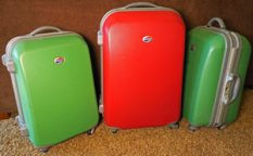 Old hard sided snorkeling luggage we used for years.