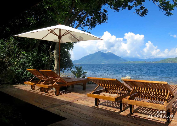 Relax by the water at Alami Alor Resort.