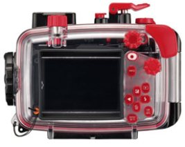 Olympus PT-058 Housing for the TG-5 snorkeling camera, rear view.