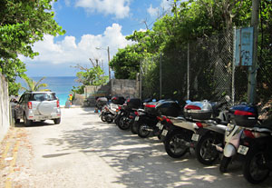 Scooter Parking At Elbow Beach