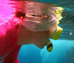 Buff Headwear For Snorkeling - Doubled Up Half Buff As A Headband