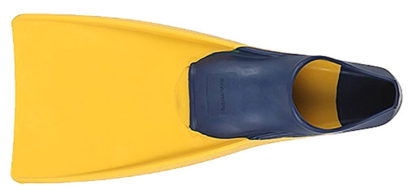 All rubber, floating, comfortable US Divers Sea Lion Full Foot Fins. We used these for years.