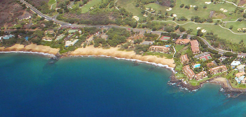 Aerial View of Poolenalena Beach with Chang's Beach