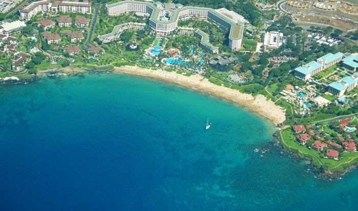 Aerial View of Wailea Beach Maui
