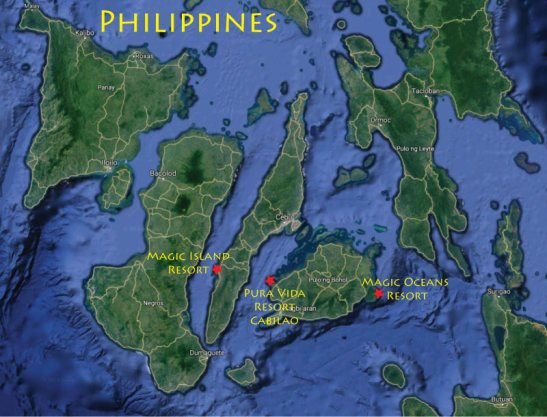 Philippines Snorkeling Trip Map