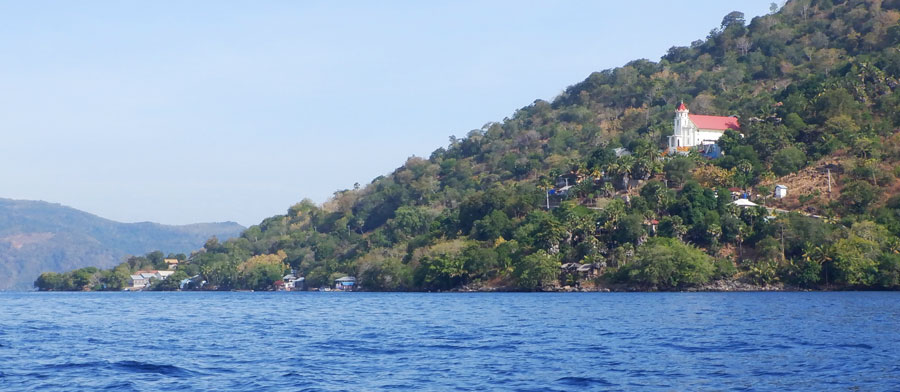 Small villages with either churches or mosques dotted the island shorelines.