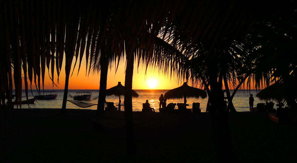 View the beautiful sunset from Anse Chastanet Beach.