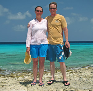 Mexitan Sunscreen Review: Galen's legs are still white after two weeks snorkeling Bonaire