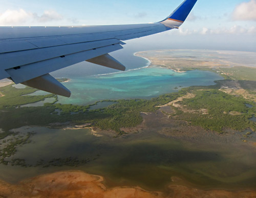 Flying Over Bonaire