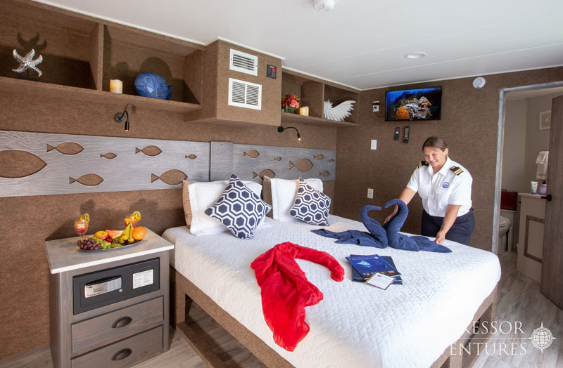 All rooms except the twin standards offer the option of a king size bed.