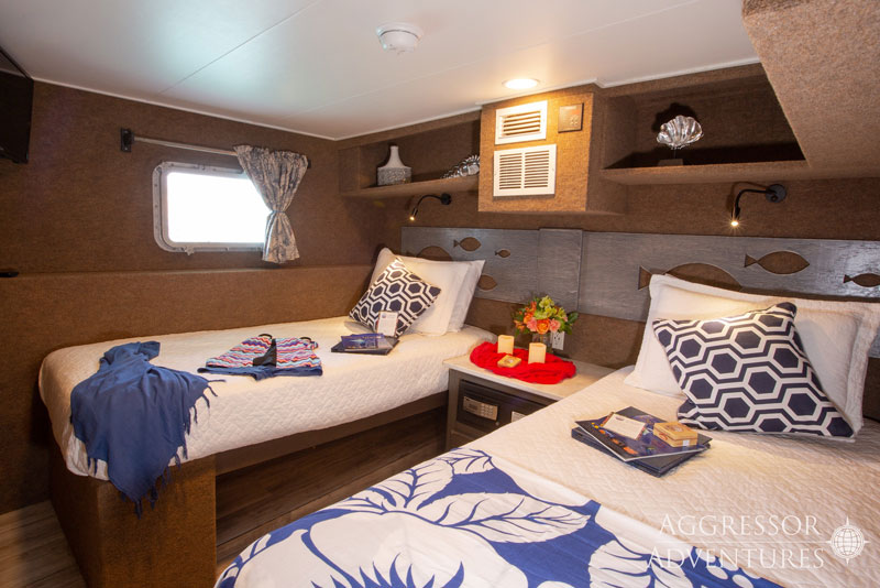 Every room option offers separate twin beds if they are desired.