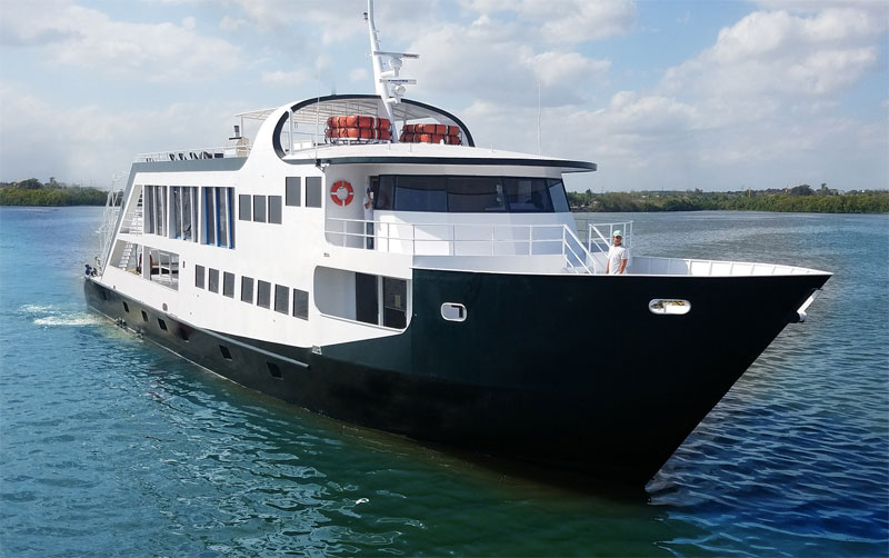 The Jardines Aggressor II will be your liveaboard home for this Cuba snorkeling trip.