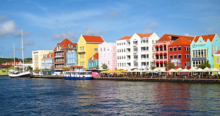 Picturesque Downtown Curacao Waterfront