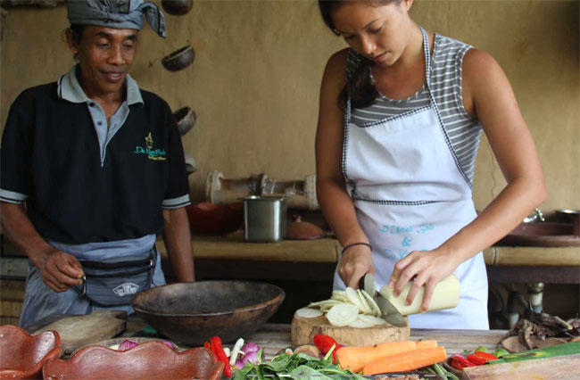 You could take a Balinese Cooking Class at De Klumpu Bali.