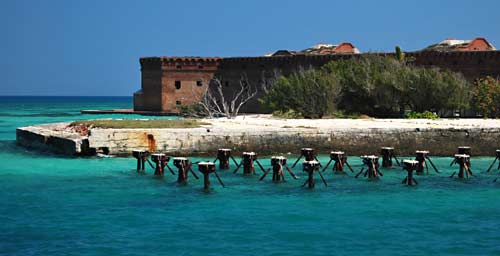 Snorkeling the southern wharf ruins at Dry Tortugas