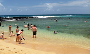 Water Entrance For Snorkeling Poipu Beach Park