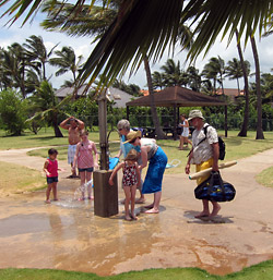 Showers at Poipu Beach Park