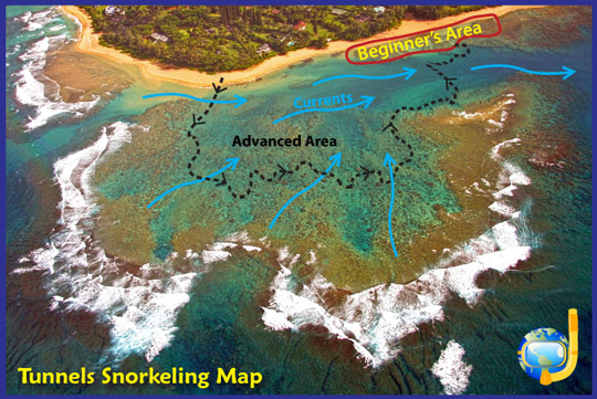 Snorkeling Tunnels Map