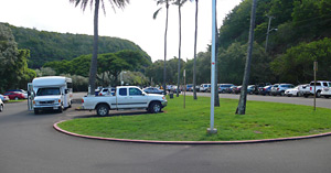Waimea Bay Parking Lot
