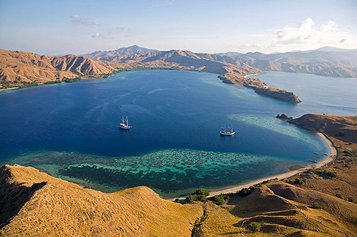 Striking scenery in Komodo.