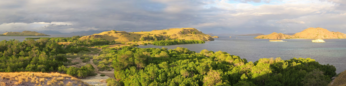 Just after sunrise in Komodo.