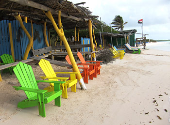 The windsufing businesses on Sorobon Beach have facilities