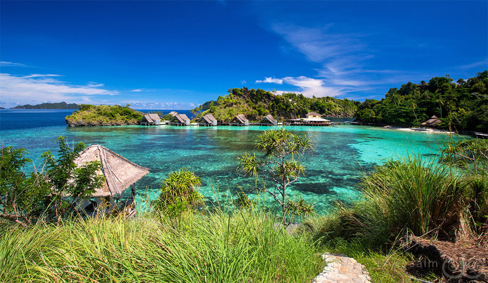 Misool Eco Resort, our destination for this awesome snorkeling adventure.