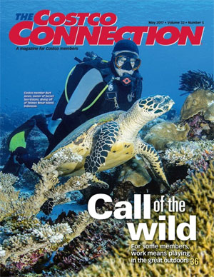 Cover of Costco Connection with Burt Jones, one of your trip organizers.