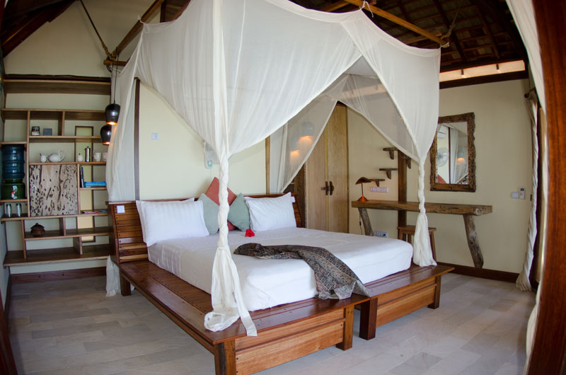 Comfortable rooms at Misool Eco Resort.