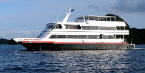 Palau Aggressor II is a 105 foot long luxury power catamaran liveaboard yacht.