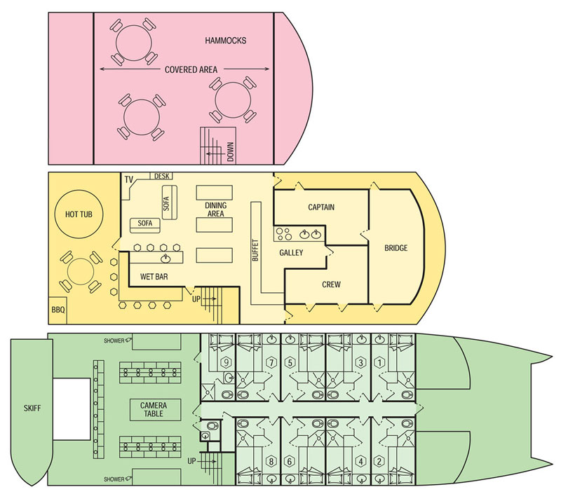 Palau Aggressor II Deck Layout