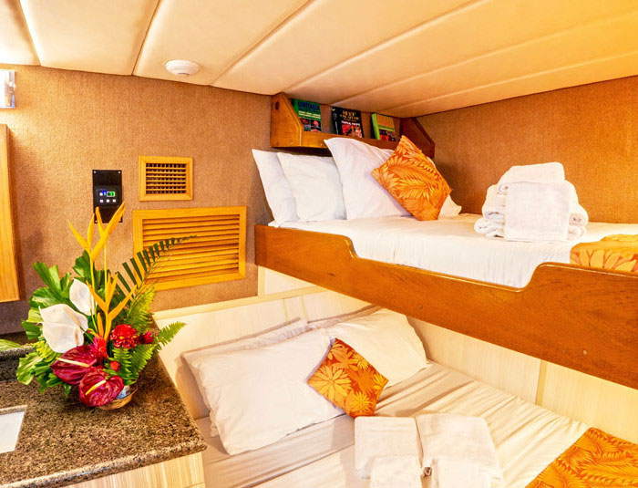 Your accommodations aboard the Atlantis Azores.