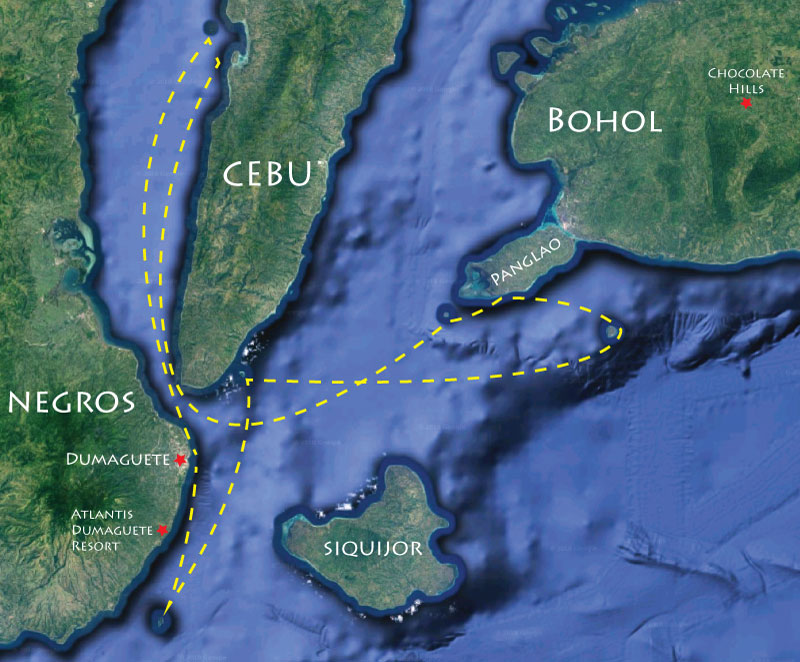 Philippines Liveaboard Snorkeling Trip Map