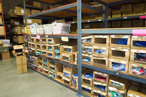They have a big warehouse of products ready to ship. Although much of what they do is custom order.