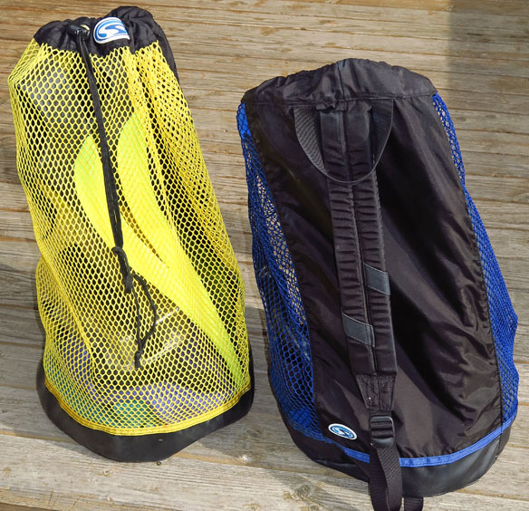 Our Current Snorkel Bags, Stahlsac BVI Mesh Backpack