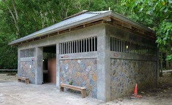 Trunk Bay restroom building