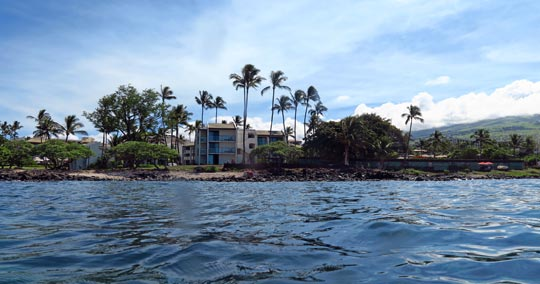 The reef past the right end of Wailea Beach is best for snorkeling off shore of these condos.
