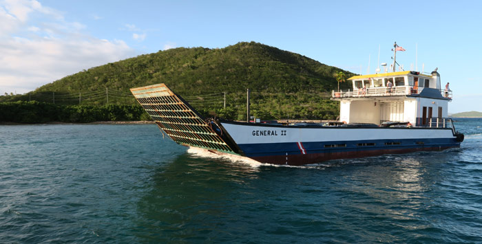 St Thomas to St John Car Barge