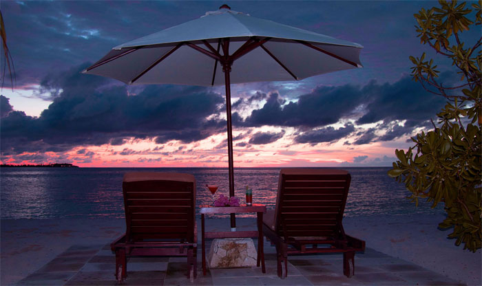 Relax after a long day of snorkeling watching the beautiful Wakatobi sunset.
