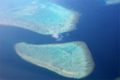 Aerial View Of Fiji Snorkeling
