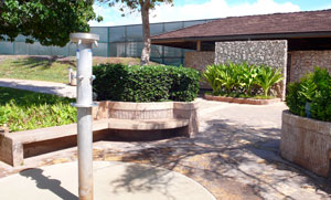 Showers and restrooms at Ko Olina Lagoons