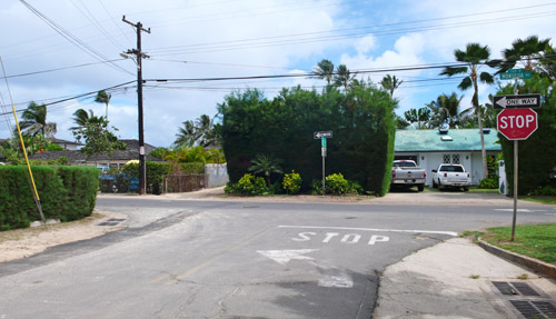 Park near the Mokumanu Drive & Kaiolena Drive intersection for the first snorkeling spot described.