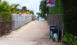 Public walking path to Lanikai Beach
