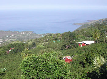 View from what used to be our favorite breakfast place above Kealakekua Bay, Big Island Hawaii.