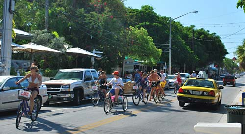 Busy, Fun Duvall Street Key West