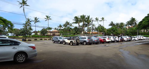 Parking Lot On The West Side Of Hoowili Road