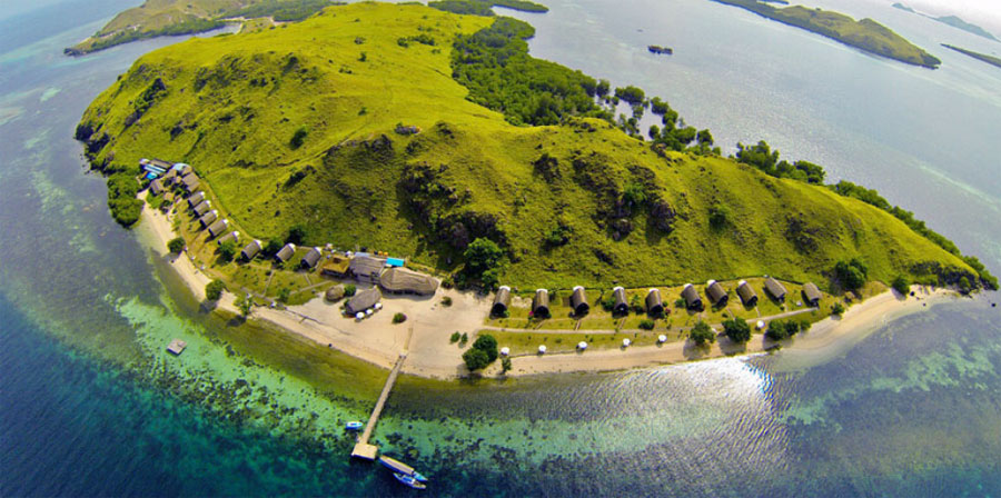 Komodo Resort's private island, with all seafront bungalows, has a wonderful house reef that can be explored anytime free of charge.
