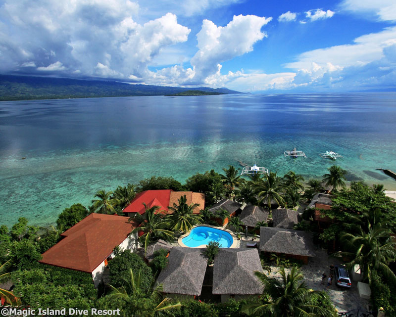 Your first stop, the beautiful Magic Island Resort.