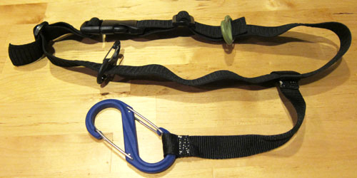 Use Nite Ize S-Biners to attach your shoes and camera to your snorkeling belt.